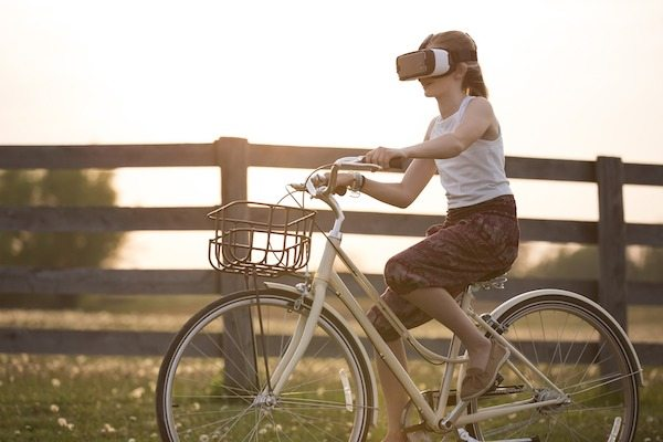 Augmented Reality AR Blog Post User headset bike