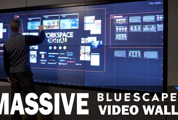 Massive Bluescape Video Wall