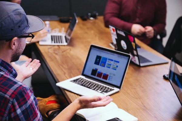 team discussion social media digital marketing