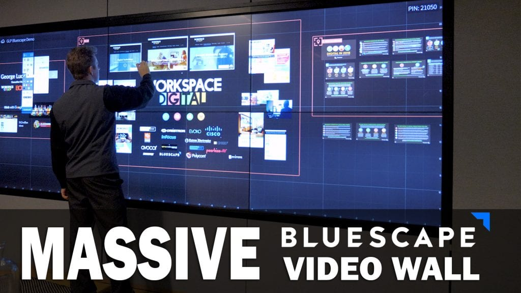Massive Bluescape Video Wall